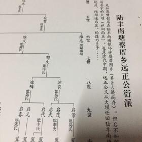陆丰南塘蔡厝族谱资料