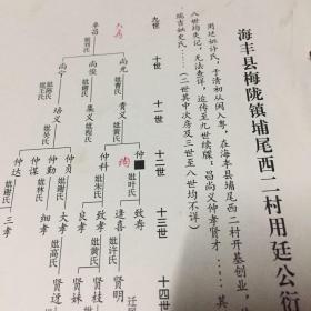 海丰蔡氏族谱资料,梅陇镇
