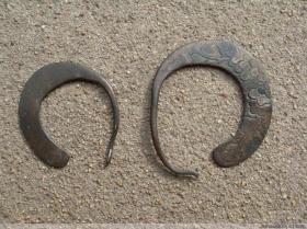 陕北满工刻花古代老耳环 来自古老民族的耳环