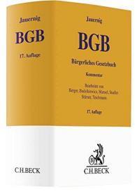 德国原版 Bürgerliches Gesetzbuch 德国民法典 Jauernig 德文 德语 2018年第17版