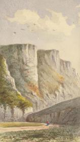 19世纪晚期水彩 19th Century Watercolours 《Cliff Studies 》悬崖  作者 Margaret Forde Hancock