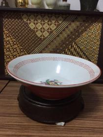 日本寄托款老瓷碗 口径19.7厘米 高度7厘米