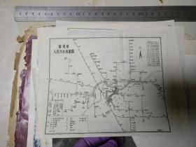 郑州市人民汽车线路图      ,原物照相,没有版权,应该文革时期的