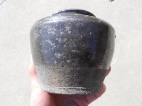 清末黑釉 老陶罐