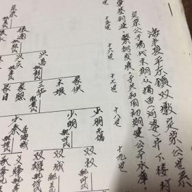海丰蔡氏稿本,揭西迁入