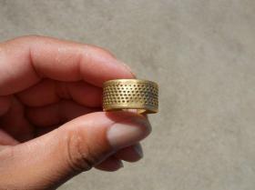 清代早期 用了几百年的老铜顶针