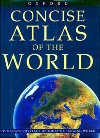 英文原版书 Oxford Concise Atlas of the World Hardcover – 1996 by George Philip & Son (Corporate Author) 牛津简明世界地图集