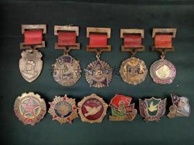 抗美援朝纪念章套装军功奖章大全套13枚功勋章徽章收藏毛主席像章