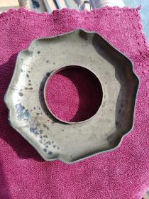 清代铜盖碗茶托