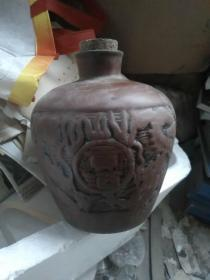 紫砂老酒瓶