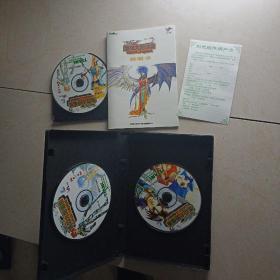 游戏光盘-盖亚大地传说(原包装盒3CD+用户卡+说明书)走快递