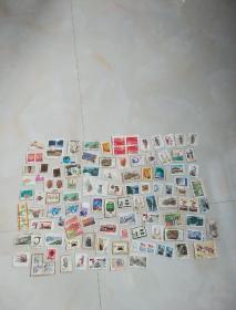 邮票一堆(信销票)