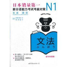 二手正版 N1语法新日语能力考试考前对策 日佐佐木仁子 日松本纪子 世