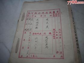 1955年-白河县公安局预审卷【迷信活动案】逮捕证,起诉书,刑事判决书等24面