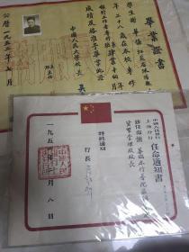 一家流出的中国人民大学毕业证书+三张任命书+党校毕业证一共5张合售 具体看图