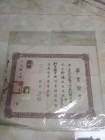 1950年中国职业补习学校结业证书 看图