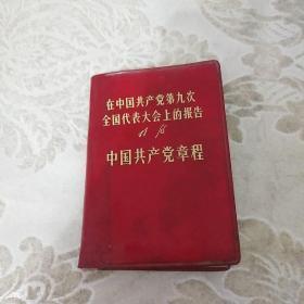 在中国共产党第九次全国代表大会上的报告,林彪,中国共产党党章