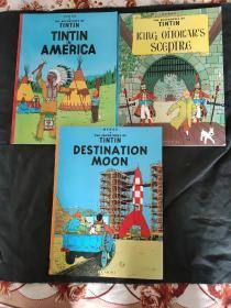 Tintin in America ..TINTIN KING OTTOKARS SCGPTRG...TINTIN DESTINTION MOON(三本合售)
