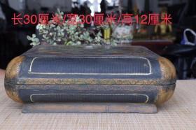 楠木胎漆器首饰盒,画工精细,做工精致,造型别致,30/30/12厘米