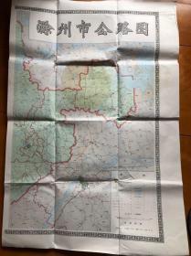 滁州市公路图【八十年代】..1开