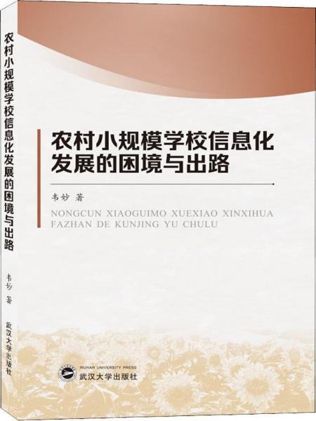 农村小规模学习信息化发展的困境与出路武汉大学韦妙9787307119536