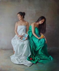 青年油画家原创作品《柔软与现实》150x180cm  作品成交记录雅昌拍卖可查