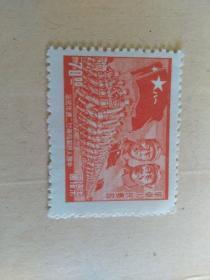 特價  華東人民郵政新票一張   有毛主席和朱德頭像   雕刻版  保真