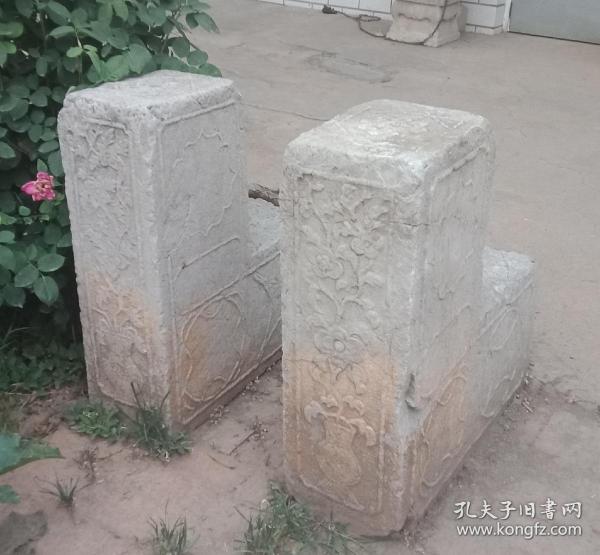 清代山西地方经典石雕----《晋东南民间上马石》-----一对--------虒人荣誉珍藏