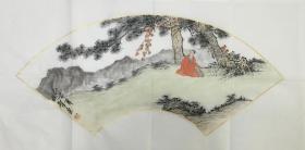 ?【保真】。【林智】中国书画家协会会员、手绘特价山水(69*34CM)3