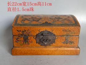 清代传世漆器盒装沉香佛珠