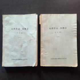 山西省志 金融志 送审稿 (一,二)合售