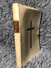 1894年 THE CHRISTIAN YEAR THOUGHTS IN VERSE FOR THE SUNDAYS AND HOLYDAYS 全白犊皮装帧 带纽扣  三面书口刷蓝  15X10.3CM