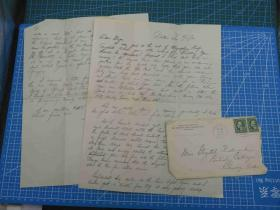 1923年4月16日美国(达拉斯)实寄封贴邮票2枚、含信件(95)