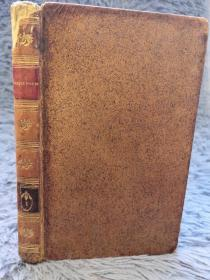 1818年 HLABBIN OBER DIE BUNDERLAMPE 第一本 全皮装帧  含一副精美藏书票  15X9.5CM