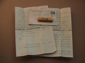 上海师范大学龚济民70年代手写信札二通 有信封 保真
