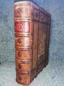 1871年  THE DESERT WORLD FROM THE FRENCH OF ARTHUR MANGIN  含160副插图  全皮装帧 三面书口刷红 24.5X17.5CM
