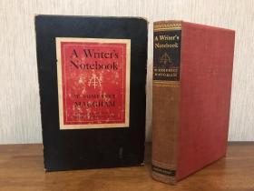 Maugham毛姆签名《作家笔记》英国著名作家毛姆初版限量签名本 毛边未裁 书顶刷金 带原装函套