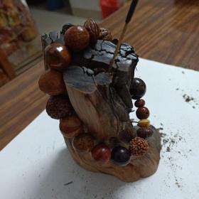泉州铜佛寺妙莲姑生前用过并赠送的种子手串(内有天眼菩提、仙桃菩提等)非卖品