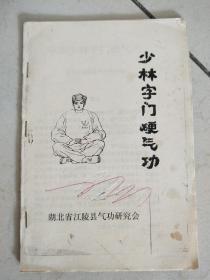 早期版本《少林字门硬气功》