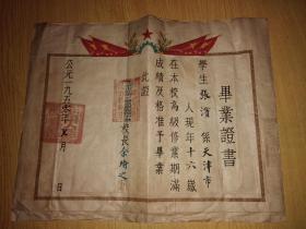 1950年北京市立第一区草原国民小学毕业证