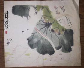 套色木版水印画托片(老旧)