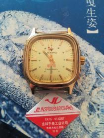 吉星牌军用机械夜光手表(对越反击战时连以上干部配发)。是集表类收藏,军品收藏和红色收藏于一身的佳品。在香港曾拍出265美元的高价。走时准确,全新未使用。吉星表祝您吉星高照!