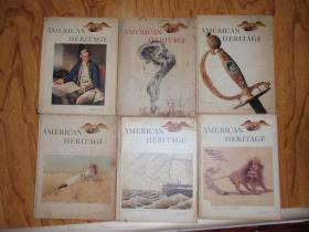英文原版:AMERICAN HERITAGE(美国的文化遗产 1961.1,1967.4,1968.1,1969.4,1971.5,1974.4)精装,6本合售!060725
