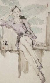 【保真 特惠】现为文化部中国画学会会员 中国工笔画学会会员 山东省美术家协会会员 刘向明 人物8