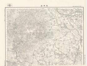 民国二十二年(1933)《宛平县房山县老地图》图题为《长辛店》(图中包含北平宛平房山长辛店老地图)十万分之一宛平县、房山县军地形图。绘制详细,参谋本部陆地测量总局测绘,宛平县、房山县地理地名历史变迁史料。本图下方缺一条边框,全貌如主图。原图复制,裱框后,风貌佳。