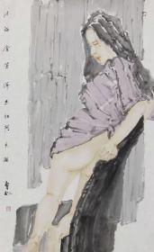 【保真 特惠】现为文化部中国画学会会员 中国工笔画学会会员 山东省美术家协会会员 刘向明 人物10