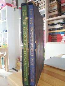丘吉尔的第二次世界大战 两本盒装 The Second World War . 9.3斤超大两本书 带一张唱片
