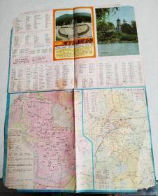 南京交通旅游图-1988年版