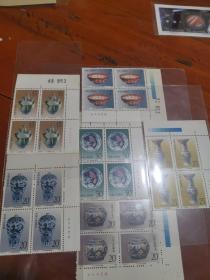中国邮政T. 166.邮票一套四连