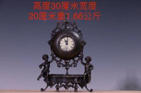 紫铜欧式复古钟表,工艺精湛,包浆浓厚,做工讲究细致,能使用